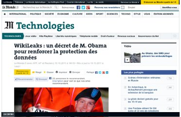 http://www.lemonde.fr/technologies/article/2011/10/10/wikileaks-un-decret-de-m-obama-pour-renforcer-la-protection-des-donnees_1585014_651865.html