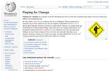 http://fr.wikipedia.org/wiki/Playing_for_Change