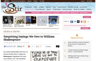 http://thestir.cafemom.com/in_the_news/126100/surprising_sayings_we_owe_to