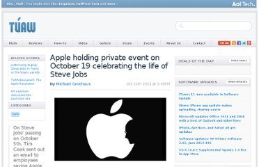 http://www.tuaw.com/2011/10/10/apple-holding-private-event-celebrating-steve-jobs-life-on-octo/
