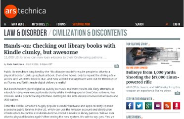 http://arstechnica.com/tech-policy/news/2011/10/hands-on-checking-out-library-books-with-kindle.ars