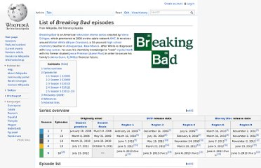 http://en.wikipedia.org/wiki/List_of_Breaking_Bad_episodes