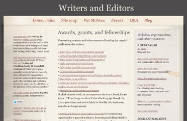 http://www.writersandeditors.com/awards__grants__fellowships_57698.htm