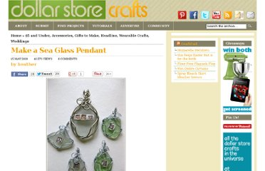 http://dollarstorecrafts.com/2009/05/sea-glass-pendant/