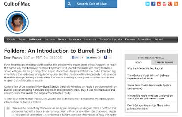 http://www.cultofmac.com/6456/folklore-an-introduction-to-burrell-smith/