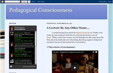 http://mmanderino.blogspot.com/2011/09/lecture-by-any-other-name.html