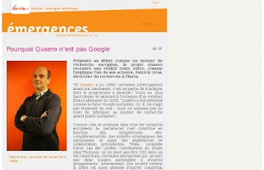 http://emergences.inria.fr/2009emergences/Newsletter-n02/QUAERO