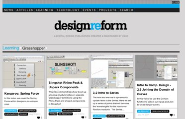 http://designreform.net/learning/grasshopper