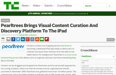http://techcrunch.com/2011/10/11/pearltrees-brings-visual-content-curation-and-discovery-platform-to-the-ipad/