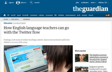 http://www.guardian.co.uk/education/2011/oct/11/twitter-for-english-language-teachers