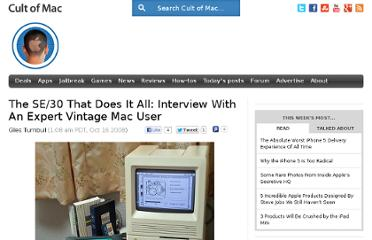 http://www.cultofmac.com/3986/the-se30-that-does-it-all-interview-with-an-expert-vintage-mac-user/