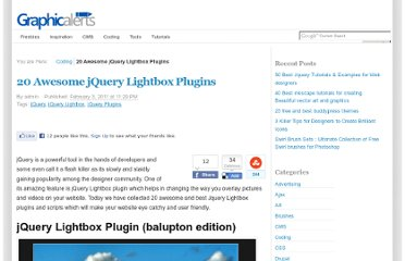 http://graphicalerts.com/20-awesome-best-jquery-lightbox-plugins/