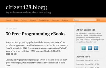 http://citizen428.net/blog/2010/08/12/30-free-programming-ebooks/