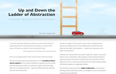 http://worrydream.com/LadderOfAbstraction/