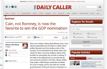 http://dailycaller.com/2011/10/11/cain-not-romney-is-now-the-favorite-to-win-the-gop-nomination/