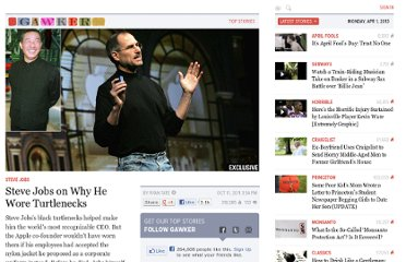 http://gawker.com/5848754/steve-jobs-on-why-he-wore-turtlenecks