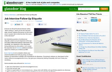 http://www.glassdoor.com/blog/job-interview-followup-etiquette/