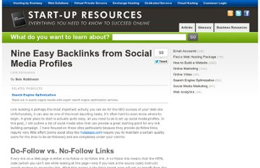 http://www.hostway.com/web-resources/search-engine-optimization/link-exchange/eight-easy-backlinks-from-social-media-profiles/
