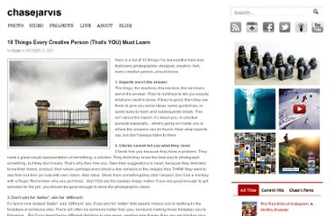 http://blog.chasejarvis.com/blog/2011/10/ten-things-every-creative-person-must-learn/