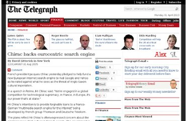 http://www.telegraph.co.uk/finance/2921407/Chirac-backs-eurocentric-search-engine.html