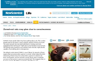 http://www.newscientist.com/article/mg21128333.700-zonedout-rats-may-give-clue-to-consciousness.html