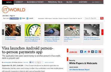 http://www.itworld.com/security/207727/visa-launches-android-person-person-payments-app