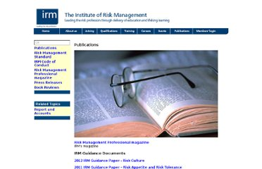 http://www.theirm.org/publications/PUpublications.html
