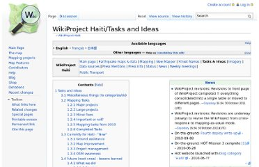 http://wiki.openstreetmap.org/wiki/WikiProject_Haiti/Tasks_and_Ideas