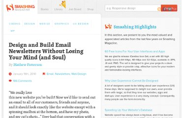http://www.smashingmagazine.com/2010/01/19/design-and-build-an-email-newsletter-without-losing-your-mind/