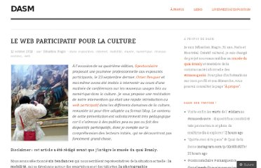 http://dasm.wordpress.com/2011/10/12/le-web-participatif-pour-la-culture/