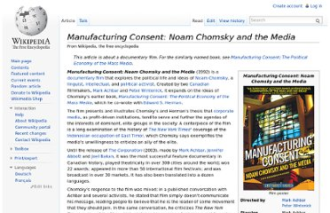 http://en.wikipedia.org/wiki/Manufacturing_Consent:_Noam_Chomsky_and_the_Media