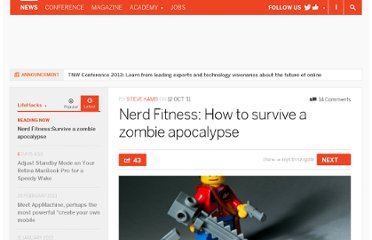 http://thenextweb.com/lifehacks/2011/10/12/nerd-fitness-how-to-survive-a-zombie-apocalypse/
