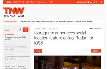 http://thenextweb.com/apps/2011/10/12/foursquare-announces-social-location-feature-called-radar-for-ios5/