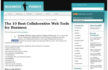 http://www.businesspundit.com/the-10-best-collaborative-web-tools-for-business/