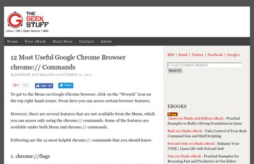 http://www.thegeekstuff.com/2011/10/google-chrome-commands/