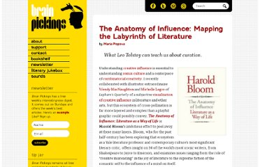 http://www.brainpickings.org/index.php/2011/10/12/harold-bloom-anatomy-of-influence/