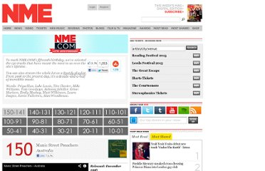 http://www.nme.com/list/150-best-tracks-of-the-past-15-years/248648