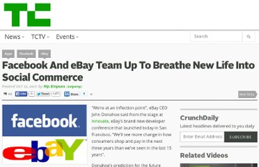 http://techcrunch.com/2011/10/12/facebook-and-ebay-team-up-to-breathe-new-life-into-social-commerce/