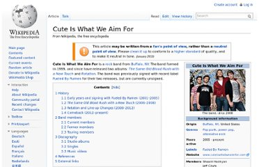 http://en.wikipedia.org/wiki/Cute_Is_What_We_Aim_For