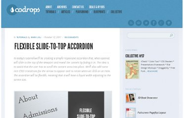 http://tympanus.net/codrops/2011/10/12/flexible-slide-to-top-accordion/