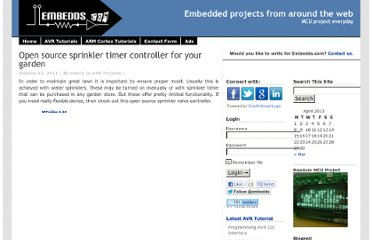 http://www.embedds.com/open-source-sprinkler-timer-controller-for-your-garden/