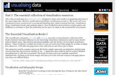 http://www.visualisingdata.com/index.php/2011/10/part-7-the-essential-collection-of-visualisation-resources/