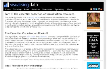 http://www.visualisingdata.com/index.php/2011/10/part-8-the-essential-collection-of-visualisation-resources/