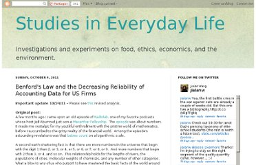 http://econerdfood.blogspot.com/2011/10/benfords-law-and-decreasing-reliability.html