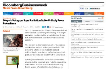 http://www.businessweek.com/news/2011-10-13/tokyo-s-setagaya-says-radiation-spike-unlikely-from-fukushima.html
