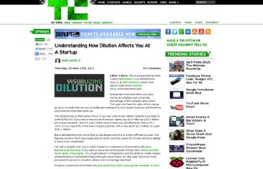 http://techcrunch.com/2011/10/13/understanding-how-dilution-affects-you-at-a-startup/
