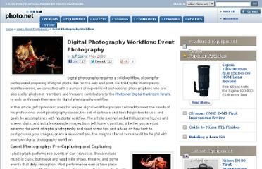 http://photo.net/learn/digital-photography-workflow/overview/event-photography/index.adp