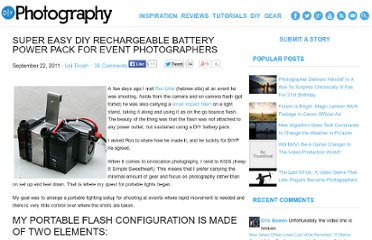 http://www.diyphotography.net/super-easy-diy-rechargeable-battery-power-pack-for-event-photographers