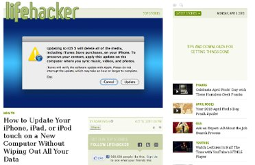 http://lifehacker.com/5849518/how-to-update-your-iphone-ipad-or-ipod-touch-on-a-new-computer-without-wiping-out-all-your-data