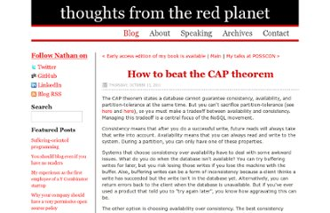 http://nathanmarz.com/blog/how-to-beat-the-cap-theorem.html